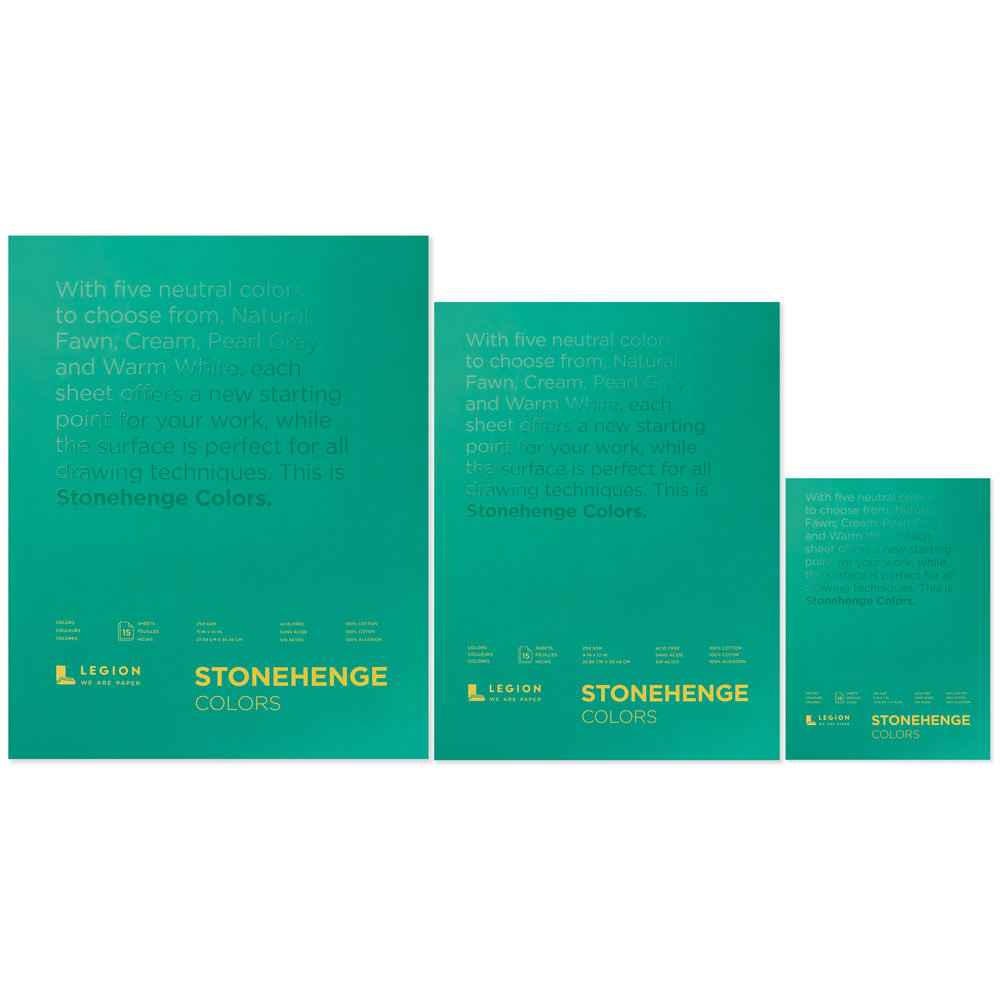 Stonehenge Color paper pad family for drawing