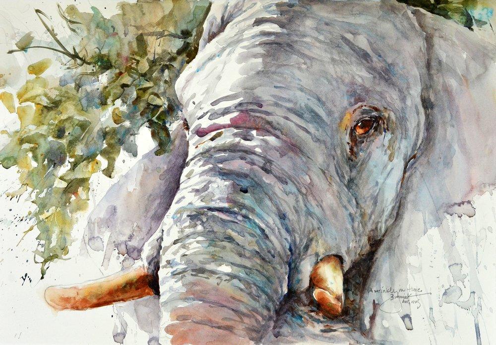 Bev Jozwiak,A Wrinkle in Time, Watercolor on Stonehenge Aqua Hotpress