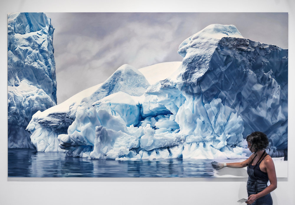 Zaria Forman, Errara Channel. Antarctica no. 1, Soft Pastel on Lenox, 2016