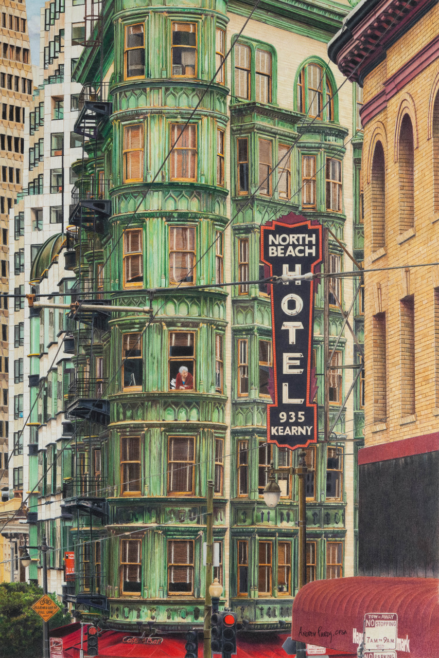 """Urban Patina"" 24"" x 16"" colored pencils on Stonehenge paper"