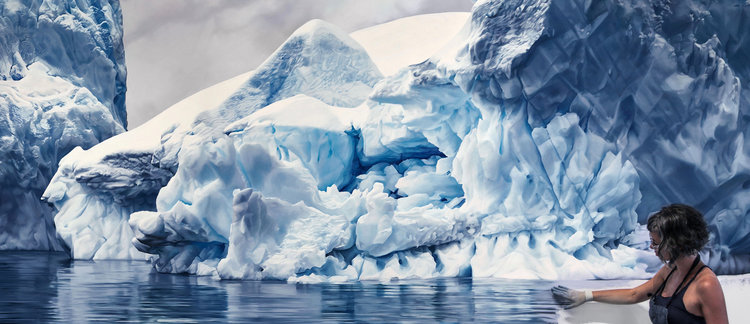 Zaria Forman, Errara Channel, Antarctica no. 1, Soft Pastel on Lenox, 2016