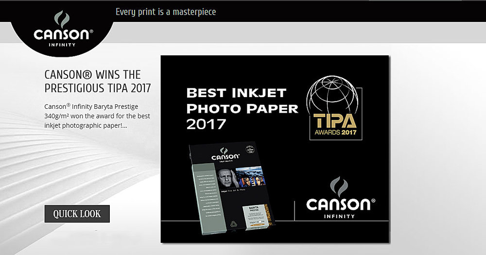 Canson Infinity, Best Inkjet Photo Paper