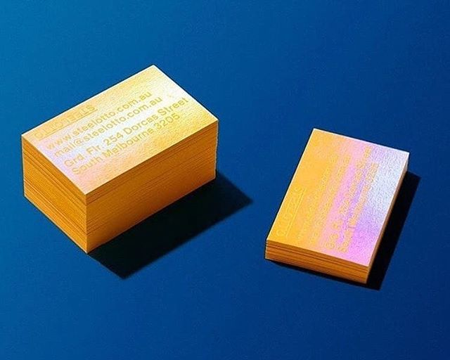 @colorplan_papers Citrine business cards with a holographic foil, designed by @confetti_studio and produced by @hungryworkshop . . . . #WeArePaper #LegionPaper #Colorplan #ColorplanPaper #businesscards #design #holographic #paperlove #dailydoseofpaper
