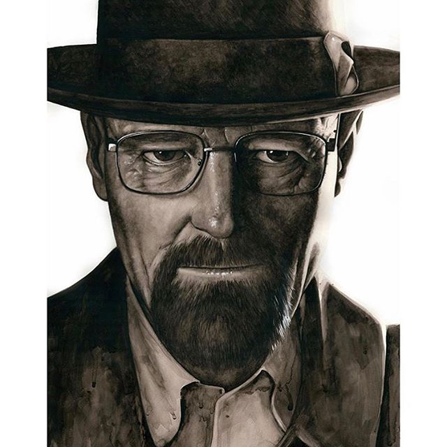 For all our Breaking Bad fans. Watercolor portraits of some @amcbreakingbad characters on Stonehenge Aqua Hotpress by @jatkinson.art . . . . #WeArePaper #LegionPaper #StonehengeAqua #watercolor #watercolour #painting #paint #portrait #breakingbad #walterwhite #art @goodmorningart
