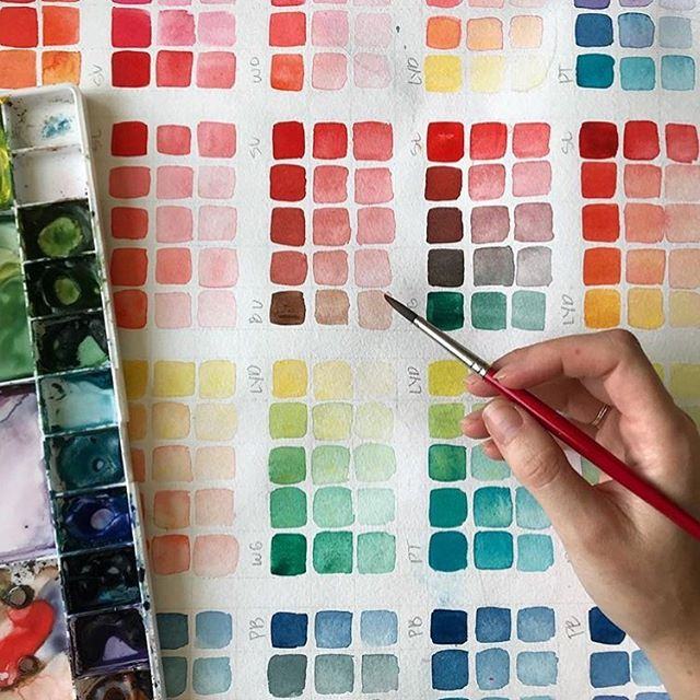 @jennarainey prepping colors #StonehengeAqua for the #watercolorsummit beginning soon! What are you favorite color pallets?🎨 . . . #WeArePaper #LegionPaper #Watercolor #painting #paint #watercolour #artdaily #buzzfeedart #coldpresspaper #art #dailydoseofpaper #paperlove