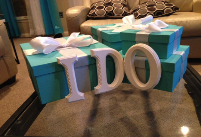 iDO and tiffany boxes