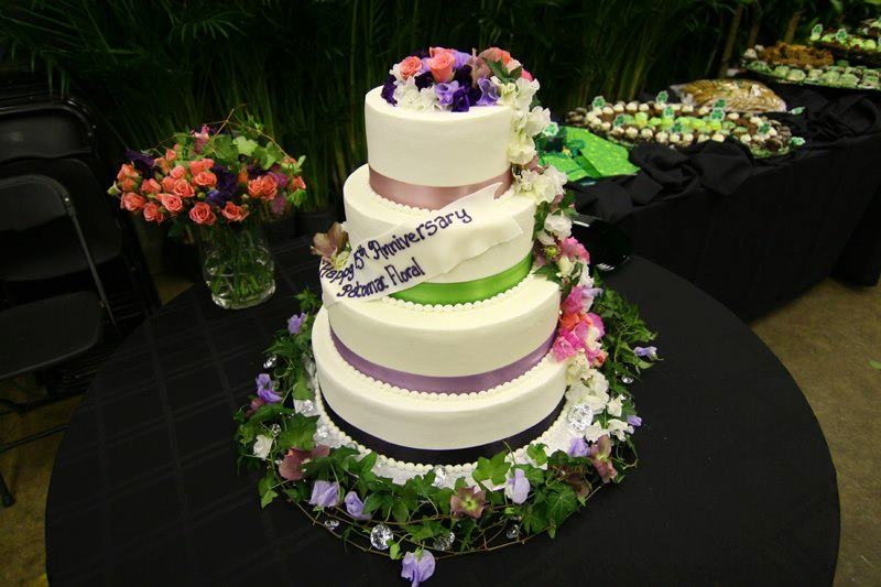 Potomac Flower Wholesale 15th Anniversary Cake