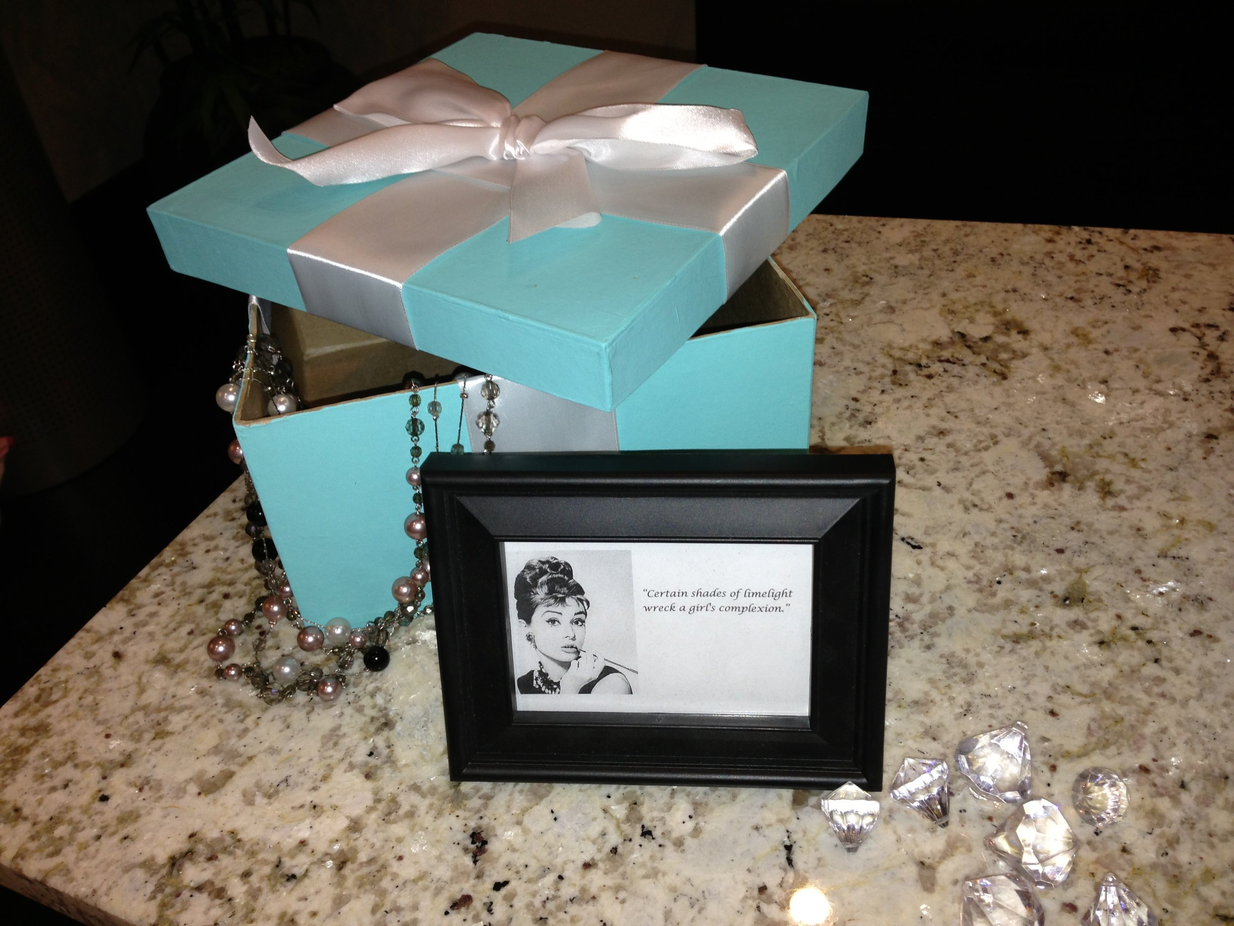 94a256f69870 Along with the Tiffany s boxes we printed out Audrey Hepburn quotes