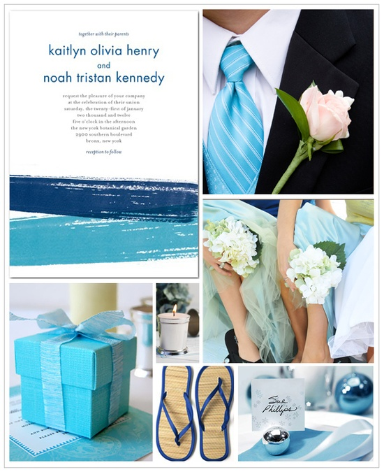 marine blue wedding