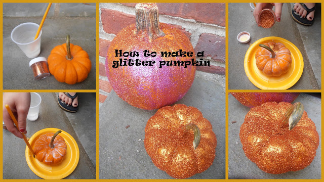 How to Make A Glitter Pumpkin