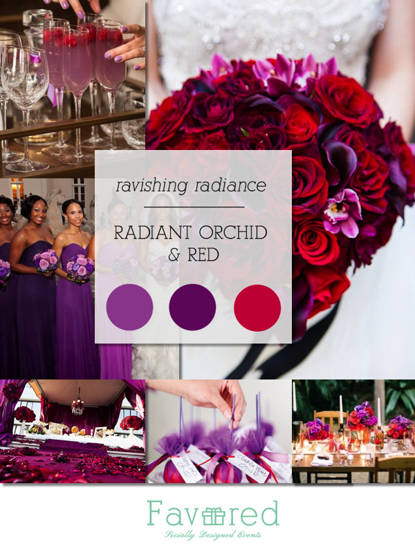 Radiant Orchid Red Collage