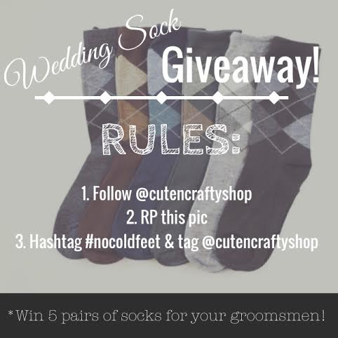 Wedding Sock Giveaway