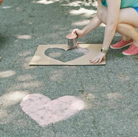 Chalk walkway