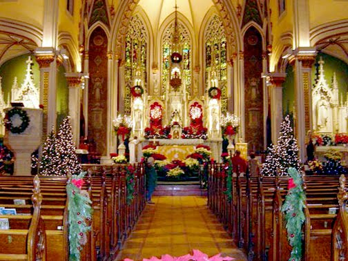 christmas church wedding