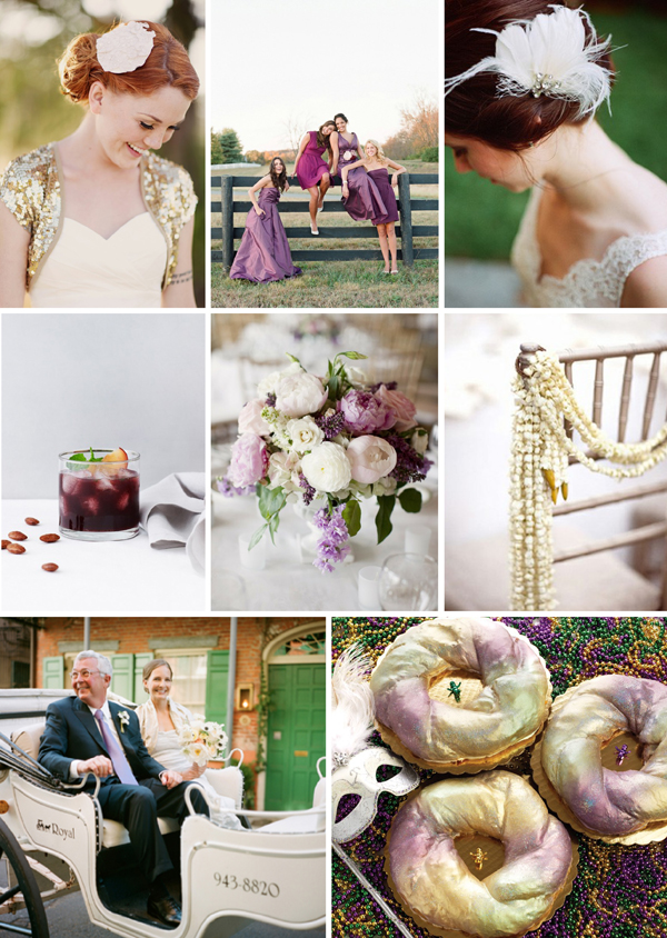 Southern Weddings - Mardi Gras Inspiration Board