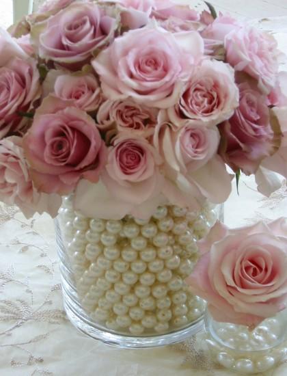 pearl vase flowers