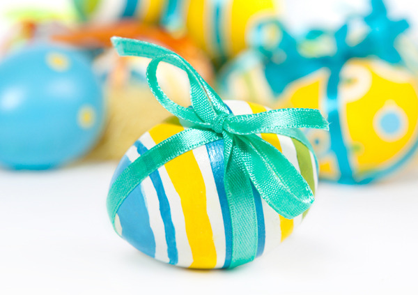 Easter Egg - Blue Bow