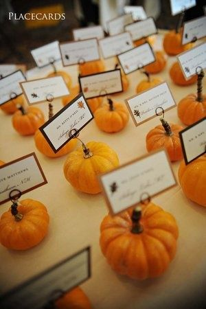 Pumpkin name cards