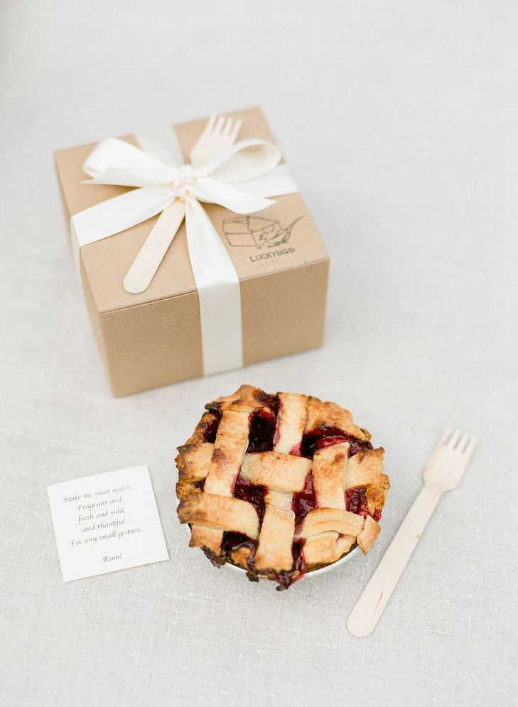 Pie Favors                                                    Photography by Heather Waraksa