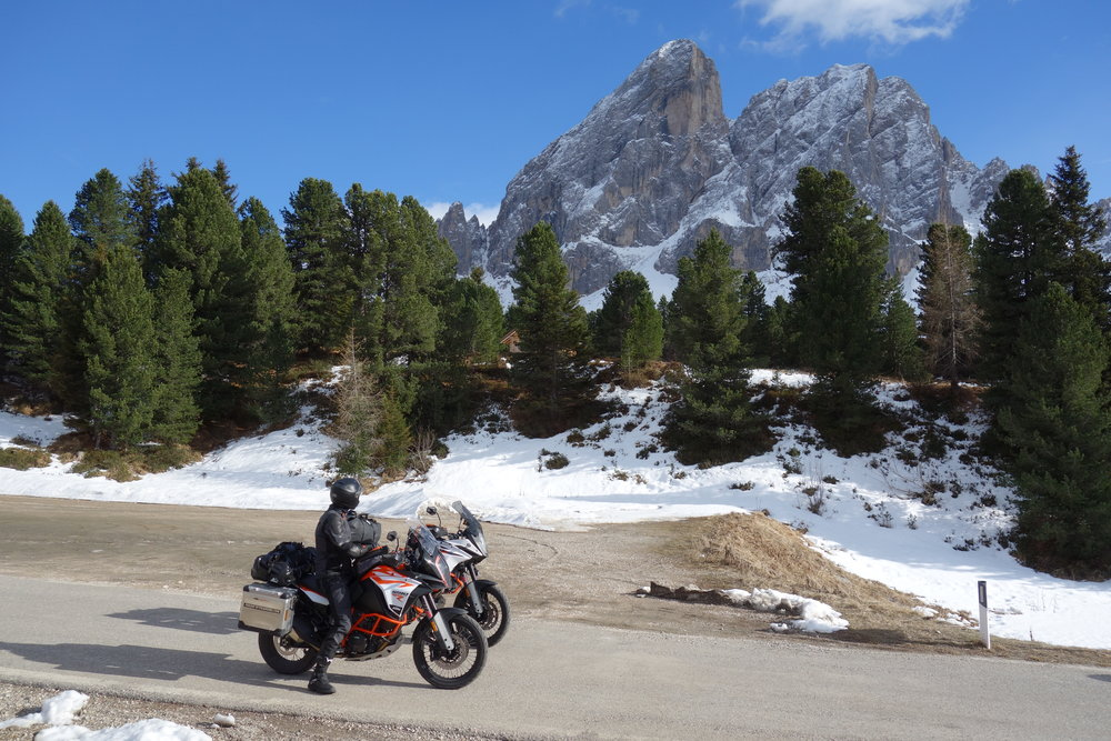 Where every biker loves to go: the Alps.