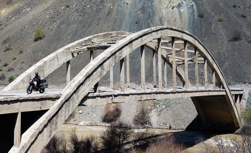 This bridge led nowhere. Great.