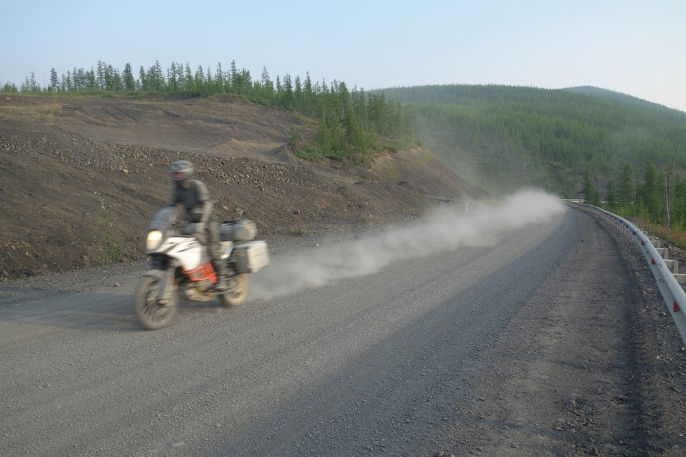 Roads like this one in Siberia call for control just as much as for power.