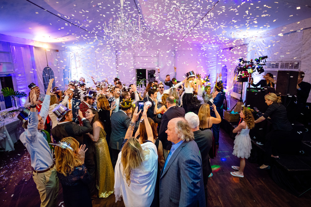 New Years Eve reception wedding confetti South Seas.jpg