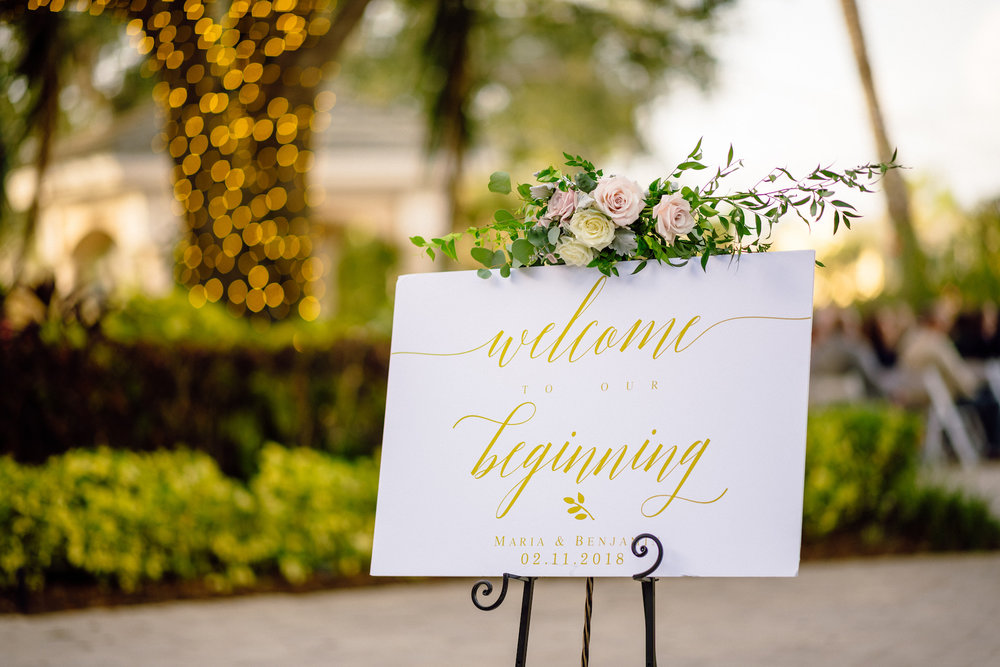 Welcome Sign wedding ceremony Matt Steeves Photography.jpg