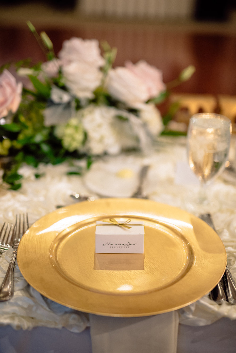 Gold Pink White Cream Wedding Reception Place Setting Matt Steeves Photography Naples FL.jpg