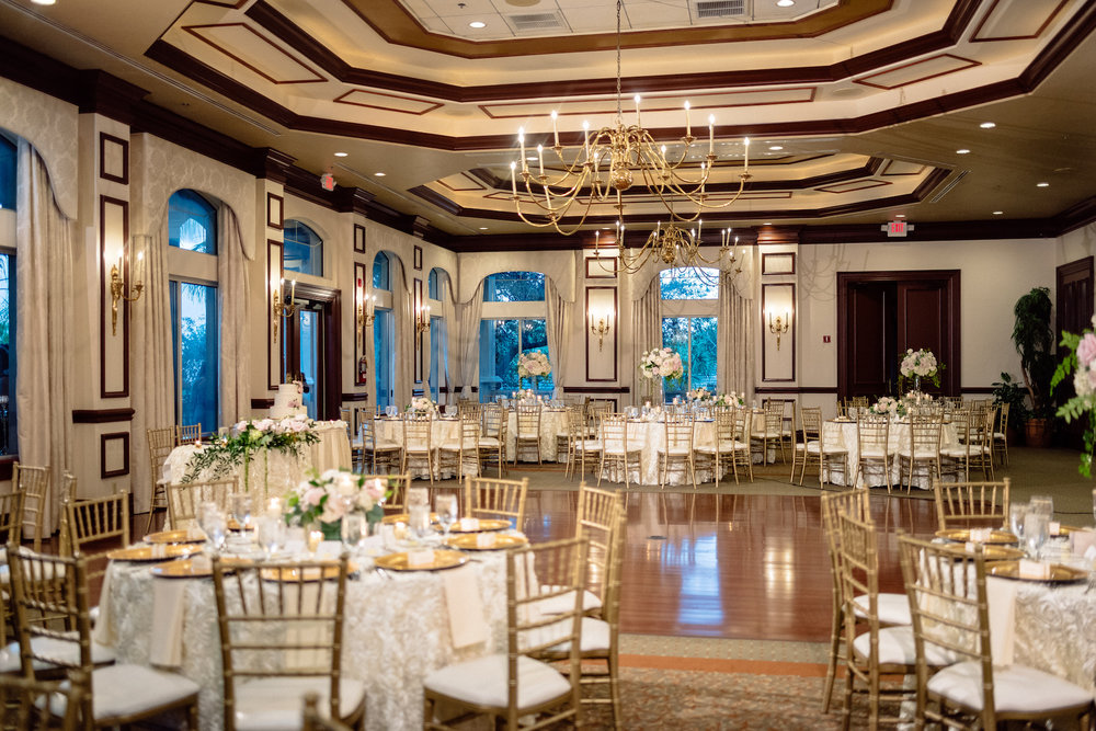 Reception for Gold Cream wedding The Strand Naples Matt Steeves Floral Symphony.jpg