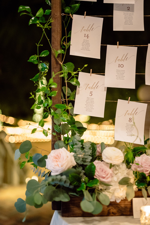 Escort Card Display Floral Symphony Matt Steeves Photography.jpg