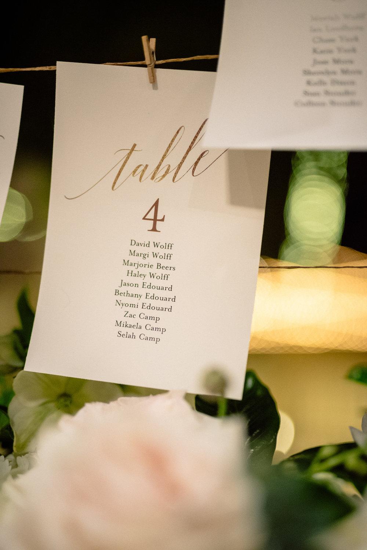Naples wedding reception Escort Card display Matt Steeves.jpg