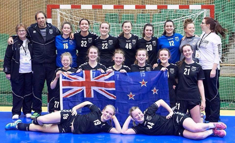 NZU20 Women's Team, IHF Trophy Intercontinental Tournament, Gabrovo, Bulgaria October 2015