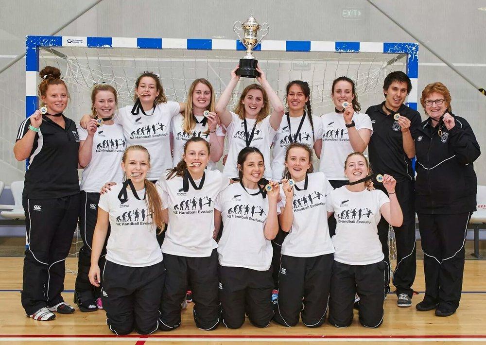 NZ Junior Women Team - IHF Trophy Winners 2014
