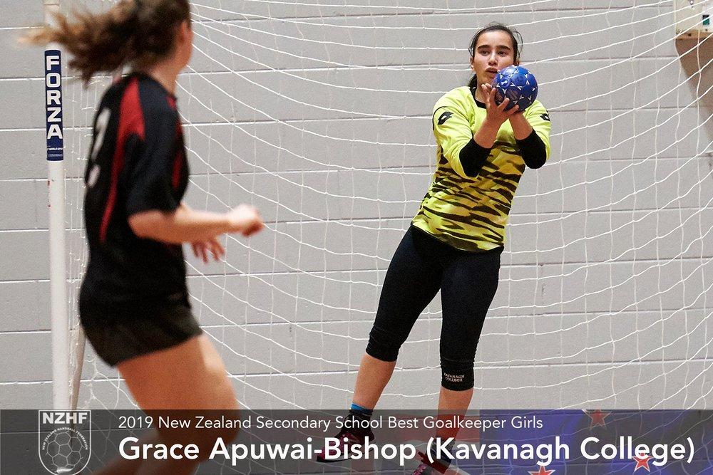 2019 Best goalkeeper girls Grace Apuwai-Bishop Kavanagh College.jpg