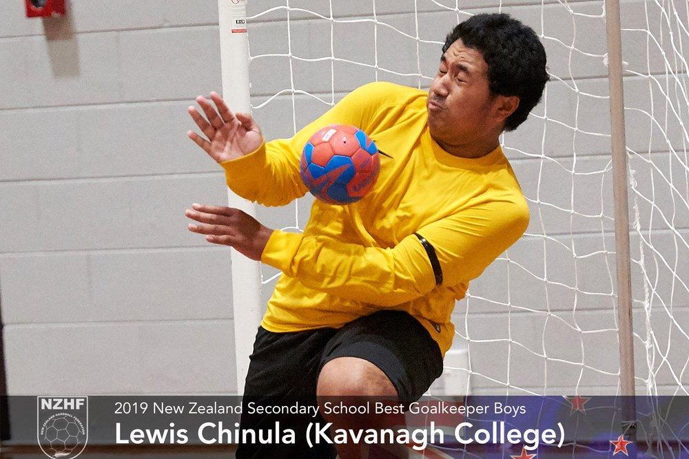 2019 Best goalkeeper boys Lewis Chinula Kavanagh College.jpg