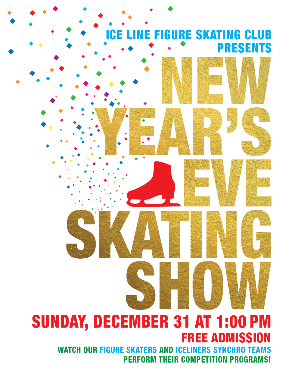 New Year's Eve Figure Skating Show at Ice Line Figure Skating Club