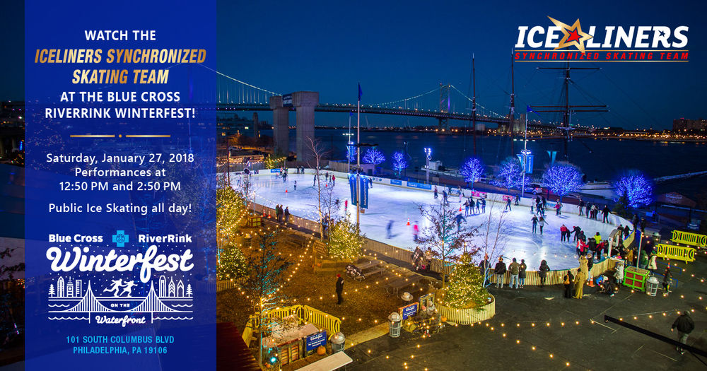 The IceLiners Synchronized Skating Team is performing at the Blue Cross RiverRink on Saturday, January 27, 2018