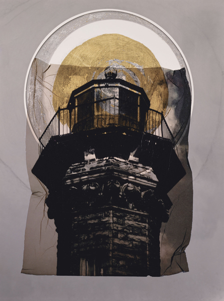 Roosevelt Island light with gold leaf