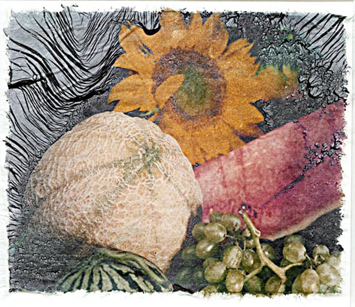 sunflower & fruit  transfer