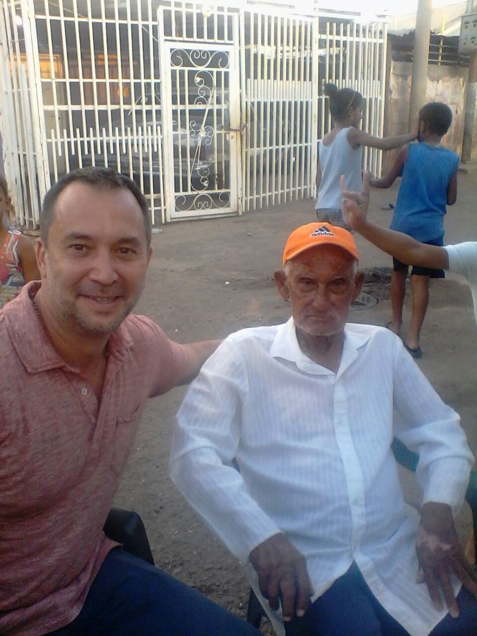 In San Luis with a patriarch