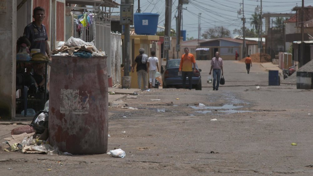 A view of the streets of San Luis- no services are provided there by the government. No trash collection.