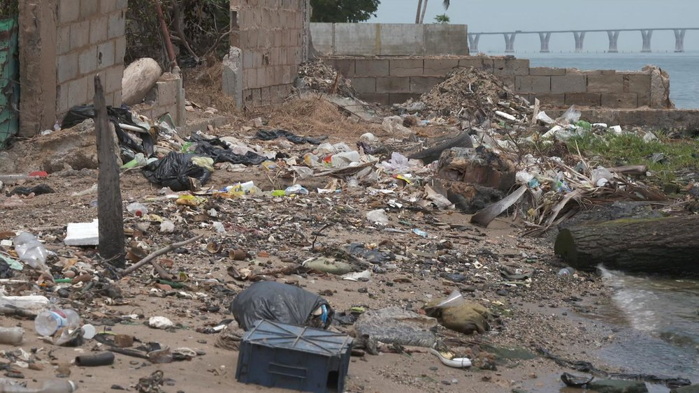 Social problems abound- trash is everywhere, no sewage system exists and this contributes to disease in the community.