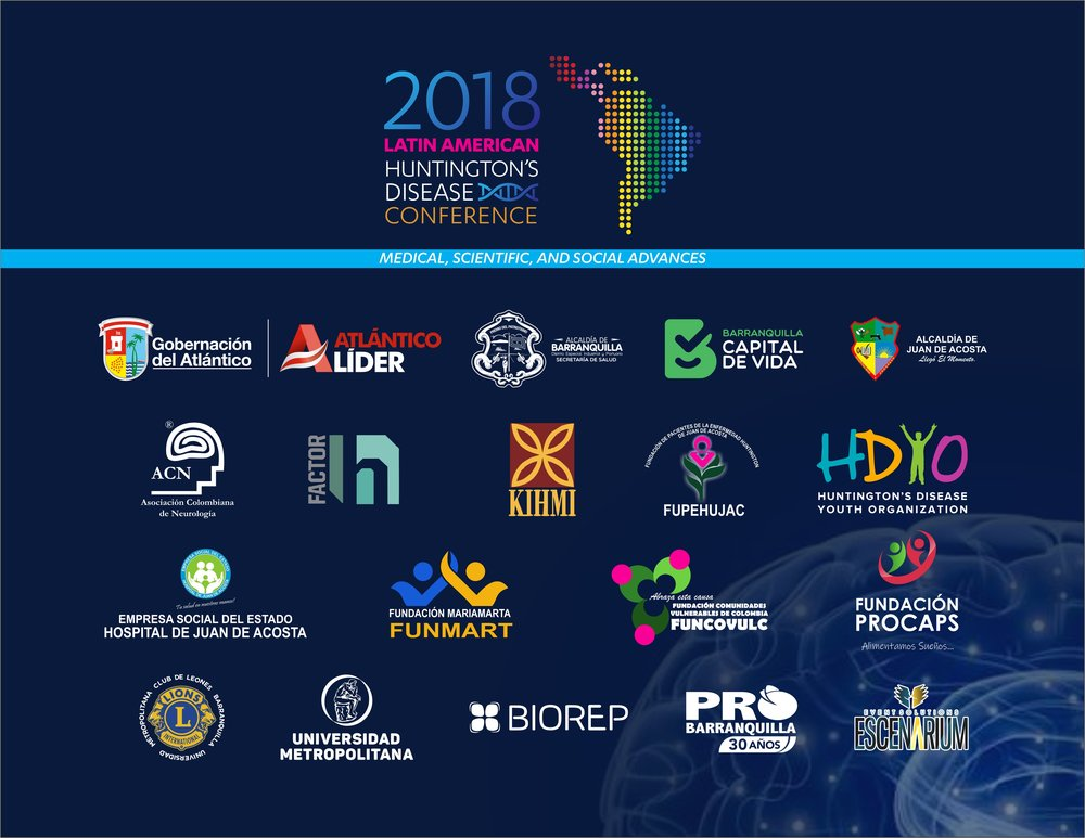 The conference received support from the Colombian Neurology association and many local organizations including the Secreatry of health and the local authorities
