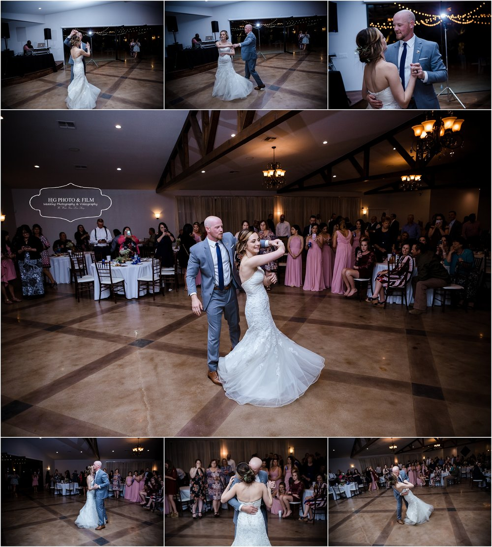 The first dance as husband and wife