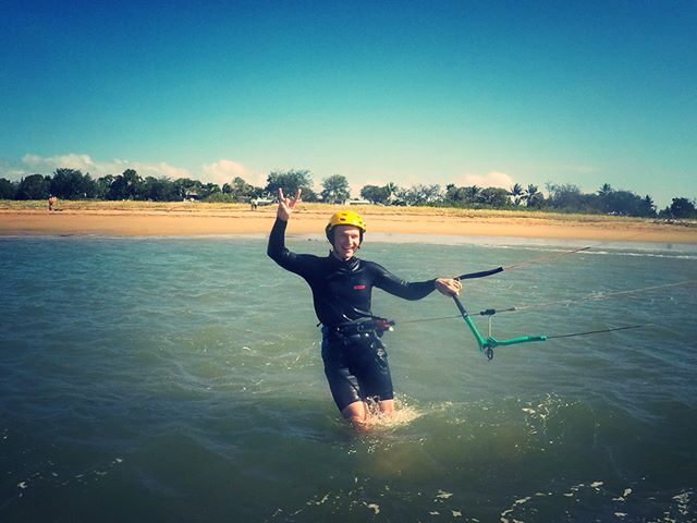 Rockin the lesson... #kiteboarding#kitesurfing#townbeach #beachlife#windydays#fundays#lesson#sunshine