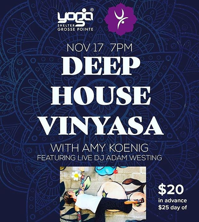 Get EXCITED!!! Our DEEP HOUSE VINYASA studio takeover is on FRIDAY!!! Buy your tickets on our website! DM if you have any questions. 💓💎🔥✨