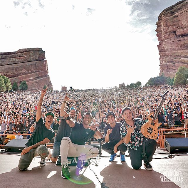 🔥@throughtheroots🔥 #ReggaeOnTheRocks at the amazing @redrocksco couple weeks ago w the TTR boyz! . Really appreciate the opportunity to go to #RedRocks and shoot you boyz crush it...again! Thank you! Looking fwd to the new album! . #ThroughTheRoots #HakodaProductions