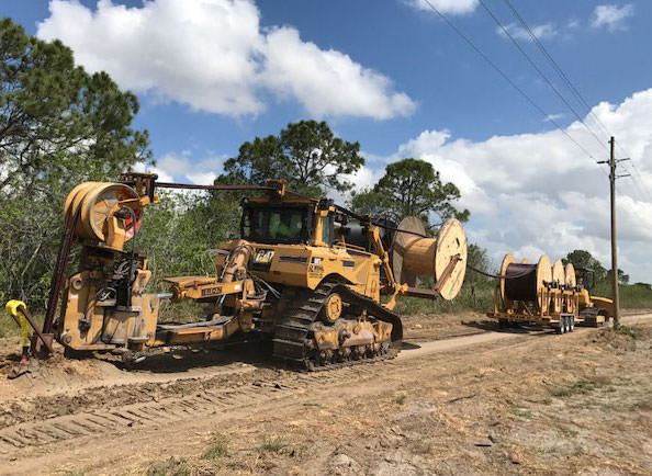 Ploughing - Rohl Enterprises utilizes the latest technology to plough all types of cable and or conduit in wide variety of terrain, locations and conditions. We operate with five complete plough trains.