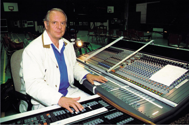Karlheinz Stockhausen at the mixing console